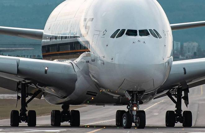 самолет Airbus A380 авиакомпании Singapore Airlines