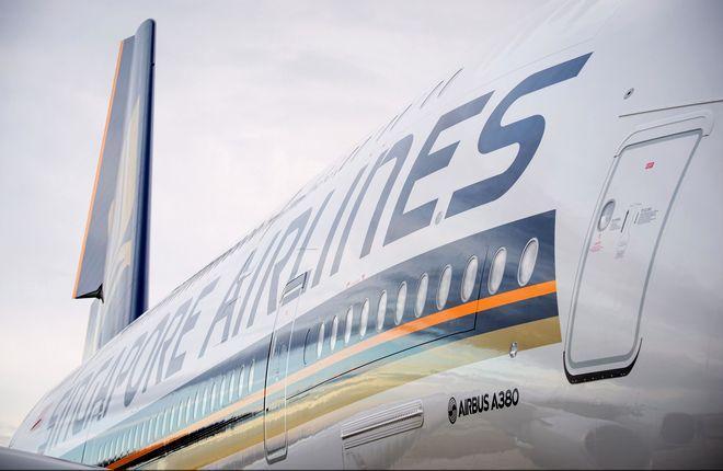 борт самолета Airbus A380 авиакомпании Singapore Airlines