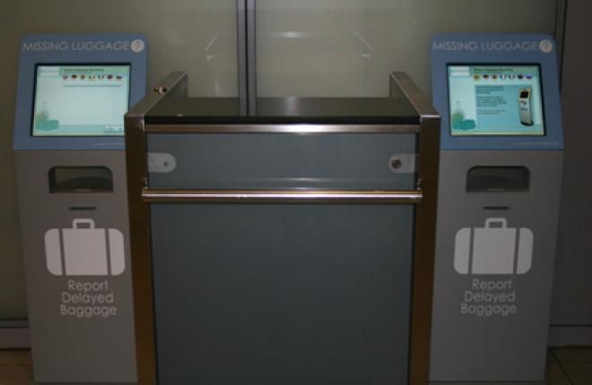 В аэропорту Домодедово установили киоски для самостоятельного поиска багажа