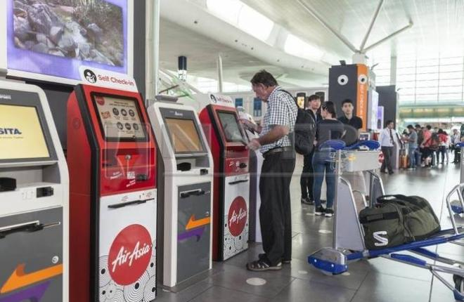 Киоск самообслуживания в аэропорту
