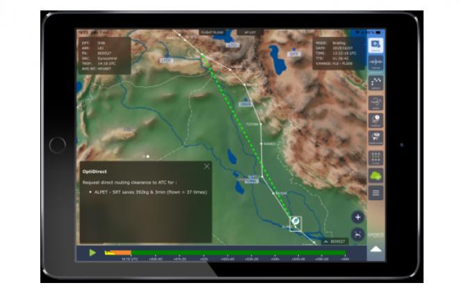 OptiFlight интегрировано в мобильное приложение eWAS Pilot