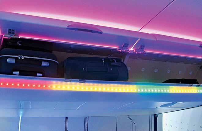 Цветовая индикация свободного багажного пространства