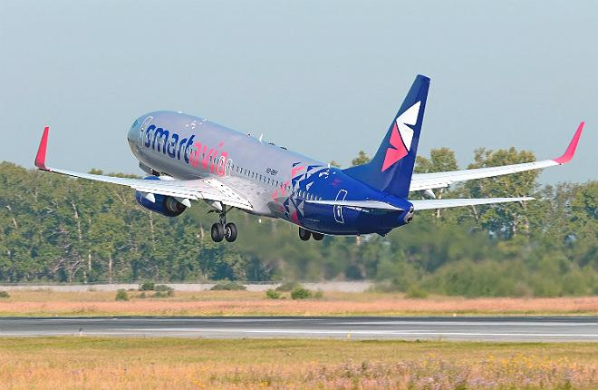 Самолет Boeing 737 авиакомпании Smartavia