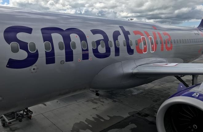 Самолет A320neo авиакомпании Smartavia