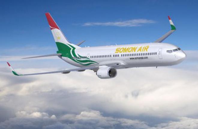 """Таджикская авиакомпания """"Сомон Эйр"""" получила Boeing 737-900ER"""