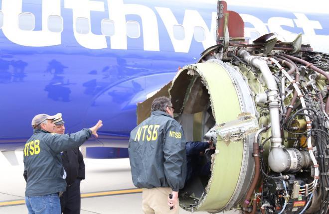 Взрыв двигателя в полете привел к гибели пассажира Southwest Airlines