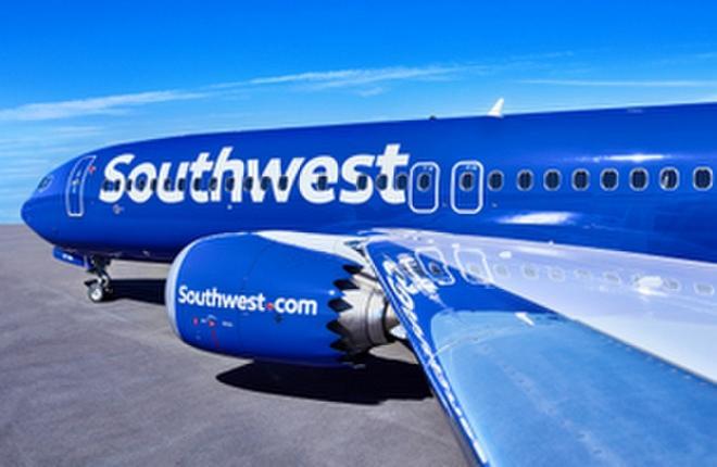 Самолет Boeing 737 лоукост-авиакомпании Southwest Airlines