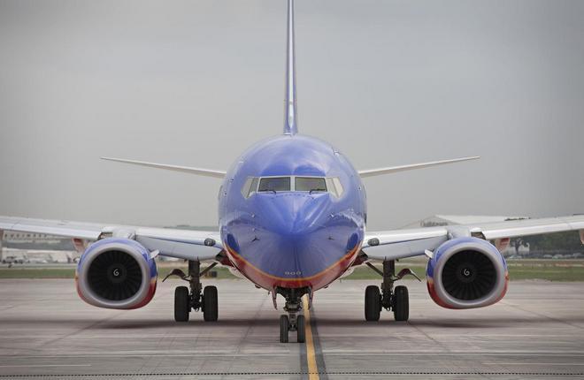самолет американской лоукост-авиакомпании Southwest Airlines