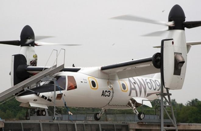 Итальянские следователи задержали третий прототип конвертоплана AW609