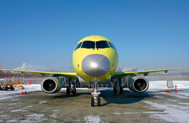 Первый SSJ 100LR с увеличенной дальностью полета