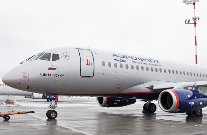 """""""Аэрофлот"""" получил четвертый самолет Sukhoi Superjet 100  (SSJ 100) от компании """"Сбербанк Лизинг"""""""