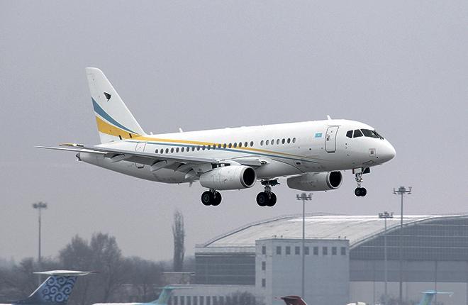 B Казахстане официально появился второй Sukhoi Bussines Jet (SBJ) — VIP-версия Sukhoi Superjet 100 Long Range