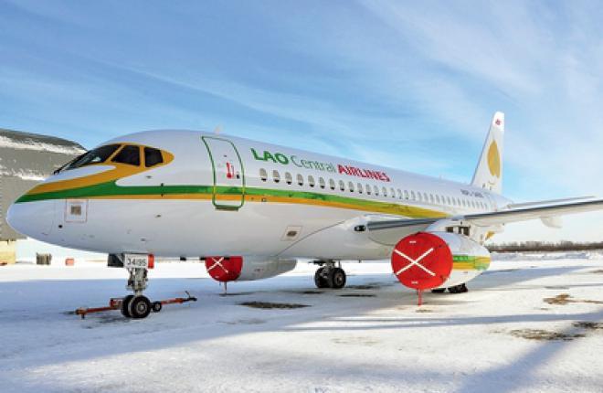 Первый самолет SSJ 100 был передан лаосской авиакомпании Lao Central в феврале 2