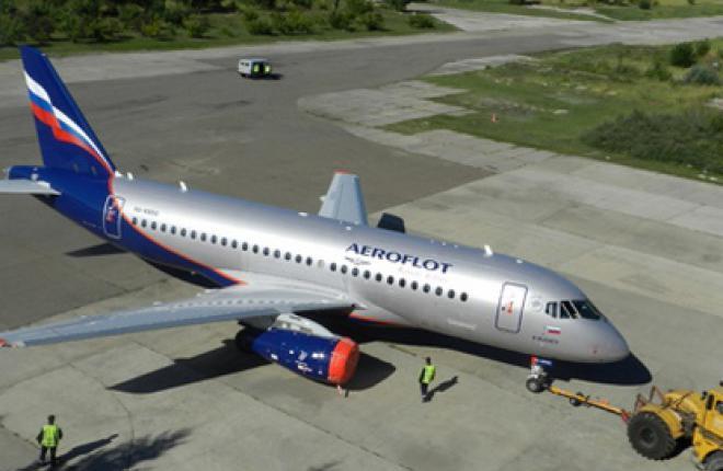 """Юбилейный самолет Sukhoi Superjet 100 для """"Аэрофлота"""" :: ГСС"""
