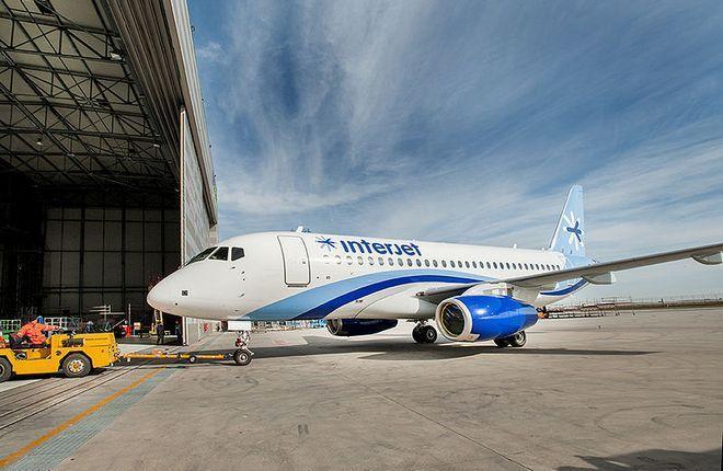 SSJ 100 авиакомпании Interjet