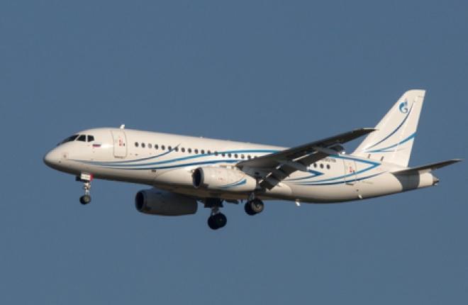"""Авиакомпания """"Газпромавиа"""" получила последний самолет SSJ 100LR0LR"""