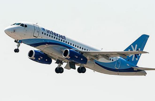 Авиакомпания Interjet получила второй самолет Sukhoi Superjet 100