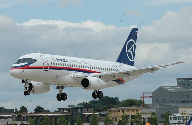 Самолет SSJ 100 сертифицировали в Египте