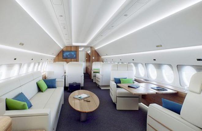Самолет Sukhoi Business Jet: компоновка и отделка