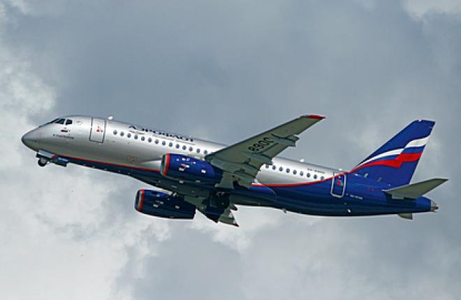 """Самолет Sukhoi Superjet 100 авиакомпании """"Аэрофлот"""", начало эксплуатации"""