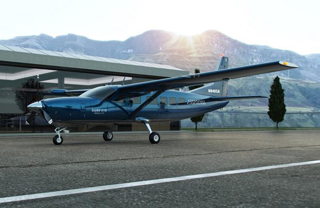Surf Air Mobilityзакупает 150 самолетов Cessna Grand Caravan EX для установки гибридных двигателей