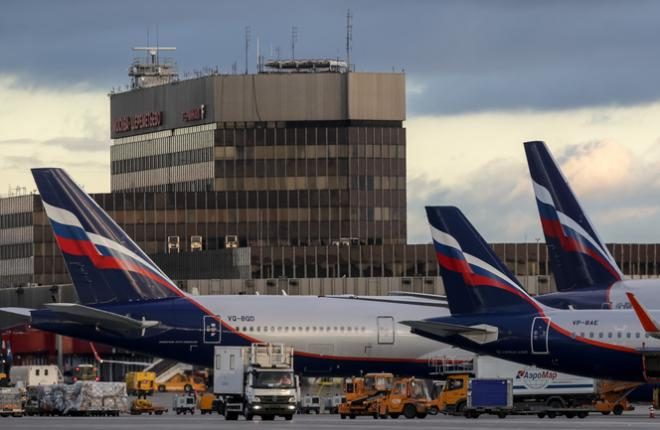"""Авиапарк """"Аэрофлота"""" в аэропорту Шереметьево"""