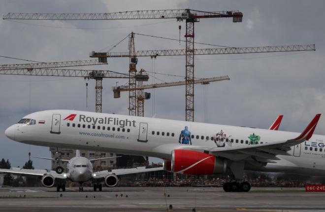 Авиакомпания Royal Flight предпочла обслужить Boeing 757 в России