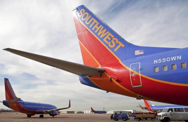 Чистая прибыль авиакомпании Southwest Airlines в 2012 году возросла более чем вд