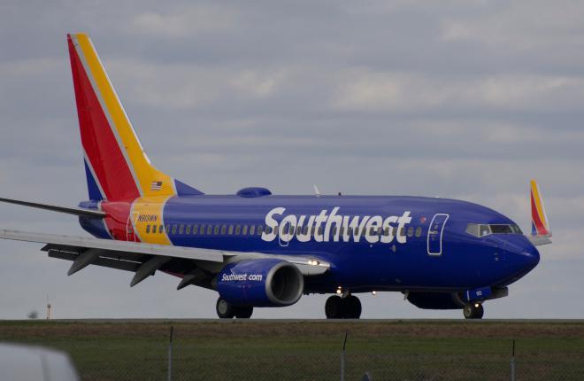 Самолет Boeing 737-700 авиакомпании Southwest Airlines