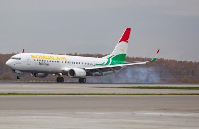 В московский аэропорт Домодедово прилетел первый Boeing 737-900