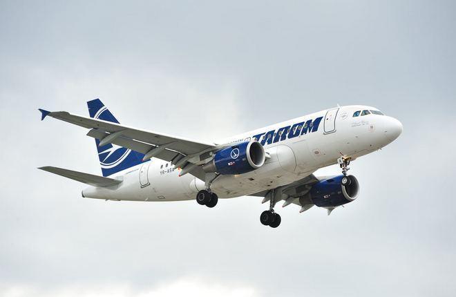 самолет авиакомпании Tarom
