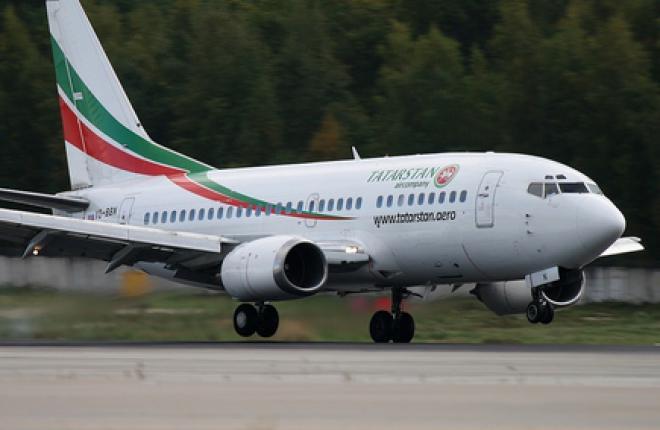 """Boeing 737-500 VQ-BBN авиакомпании """"Татарстан"""" выполнил первый полет в 1990 году"""