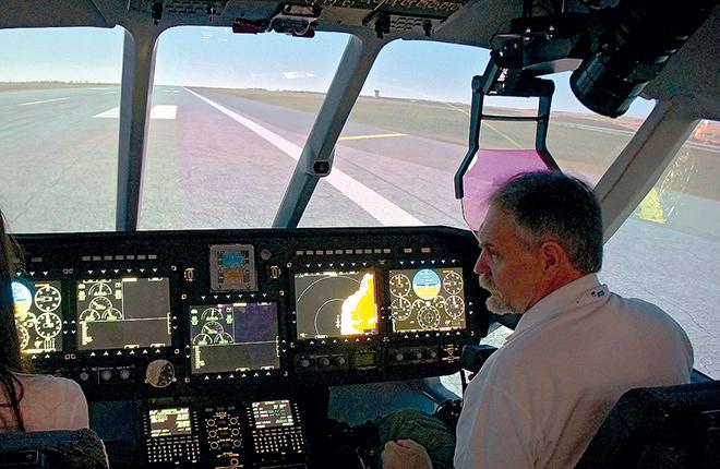 СТЗ-11, установленная в кабине тренажера вертолета Ми-38