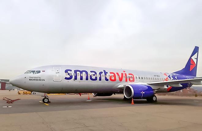 Первый Boeing 737-800 авиакомпании Smartavia