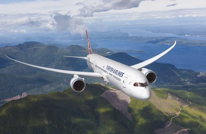 самолет Boeing 787-9 авиакомпании THY
