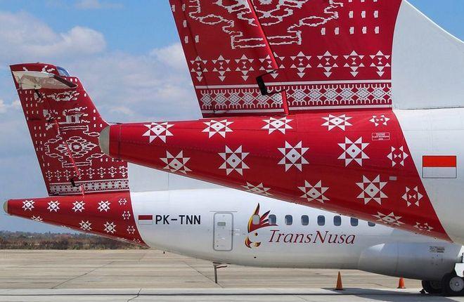 Индонезийская авиакомпания TransNusa эксплуатирует восемь турбовинтовых ATR72-500/600 и один турбореактивный BAe 146-100