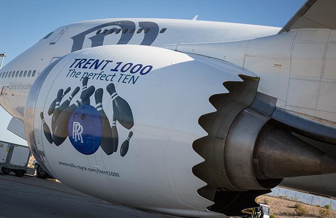 Модернизированный двигатель Rolls-Royce для Boeing 787 прошел сертификацию