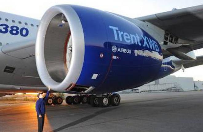 Двигатель Trent XWB готовится к летным испытаниям на Airbus A380