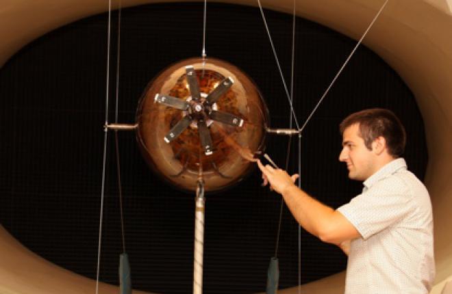 испытания схематизированной модели фюзеляжа самолета в аэродинамической трубе