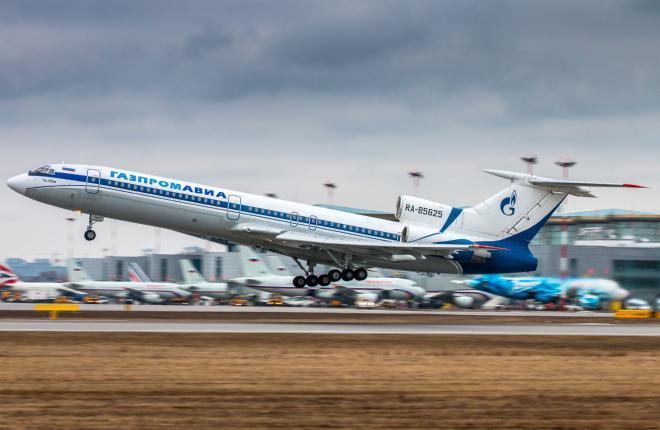"""""""Газпром авиа"""" вывела из парка все самолеты Ту-154"""