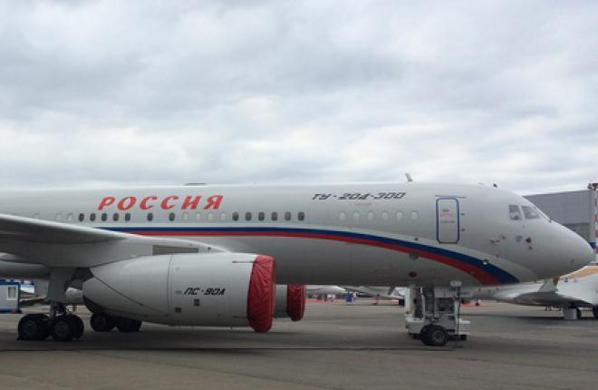 Самолет Ту-204 впервые попал на экспозицию выставки JetExpo