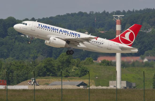 Самолет Airbus A319 авиакомпании Turkish Airlines