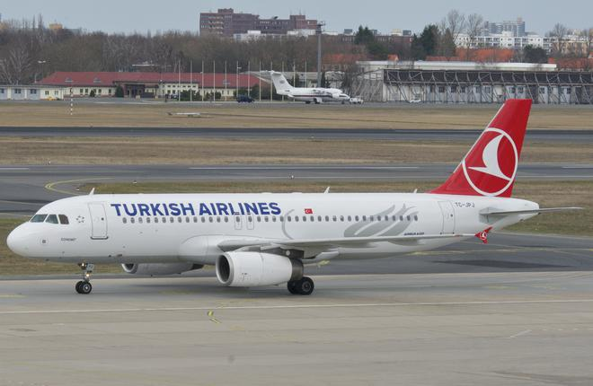 Самолет Airbus A320 авиакомпании Turkish Airlines
