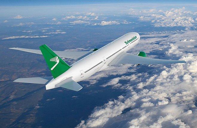 самолет Boeing 777-200LR Turkmenistan Airlines