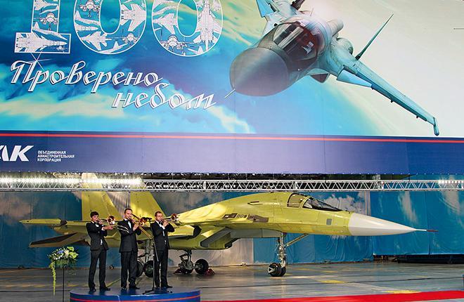 100th assembled Su-34 bomber