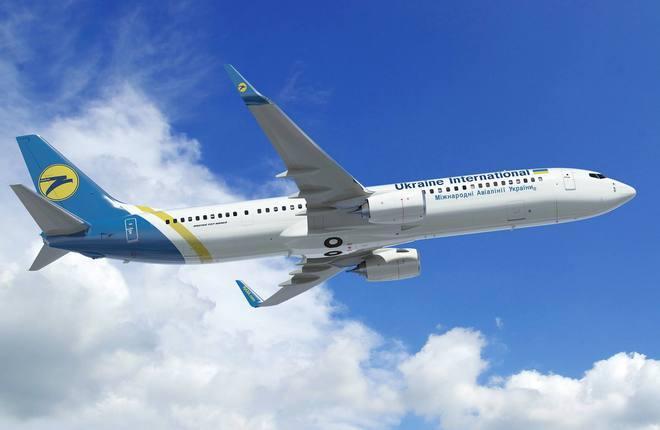 """Авиакомпания """"Международные авиалинии Украины"""" получила очередной новый самолет Boeing 737-800"""