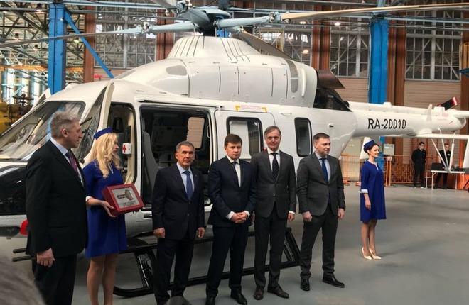 """""""Русские вертолетные системы"""" получили пятый медицинский """"Ансат"""""""