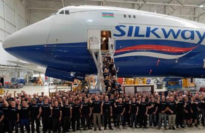 В Германии выполнили D-check самолета Boeing 747-400F Silk Way West Airlines