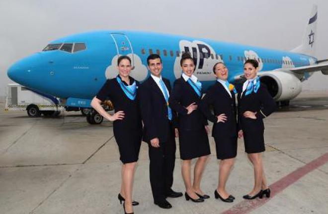Израильский лоукостер начал выполнять полеты в Киев