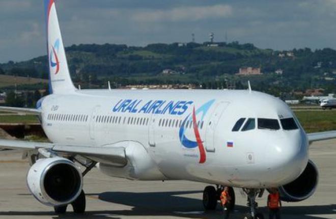 """Авиакомпания """"Уральские авиалинии"""" получила самолет Airbus A320."""